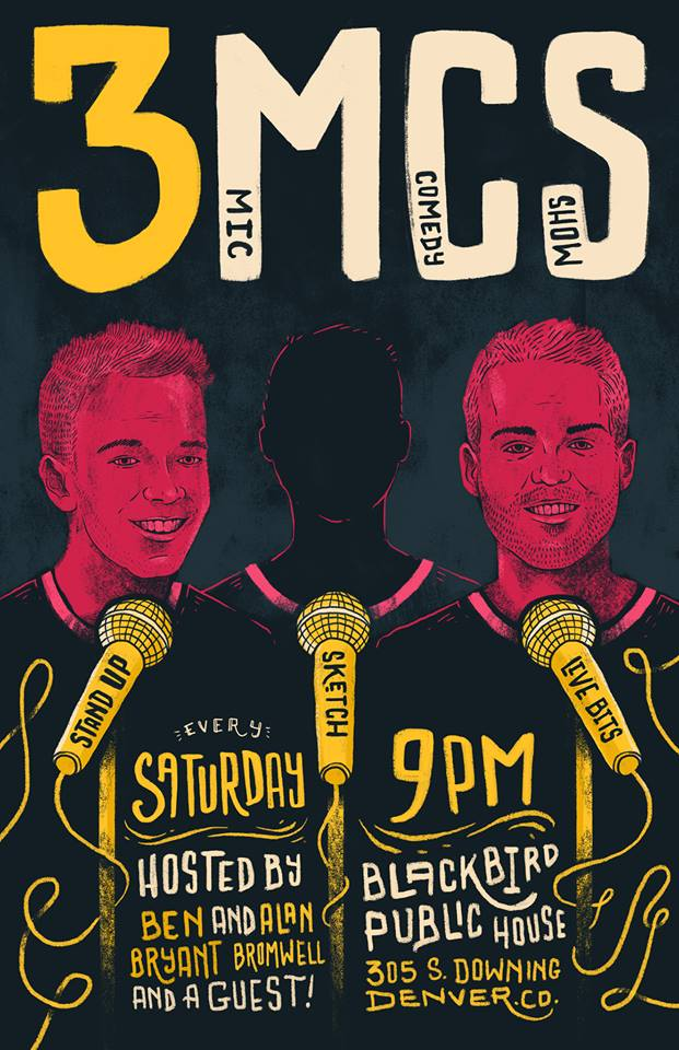 Comedy Night Event Poster with dates and time